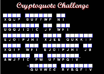 Play Our Online Cryptoquote