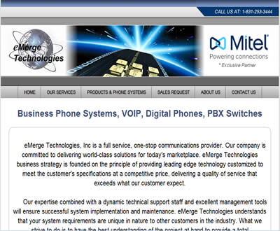 Telephone Business Solutions Website